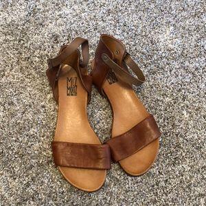 "Miz Mooz ""Alanis"" brown leather sandals"